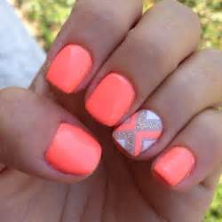 coral color nails 60 amazing neon nail designs that scream summer venus