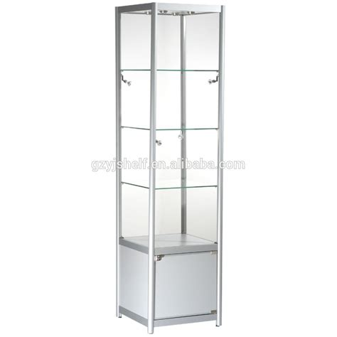 glass aluminum display cheap storage cabinet with