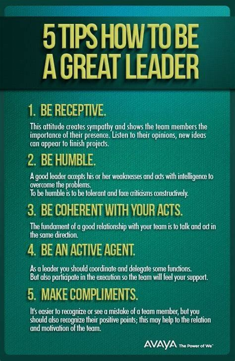 Great Tips On How To 5 Tips How To Be A Great Leader Quotesstory