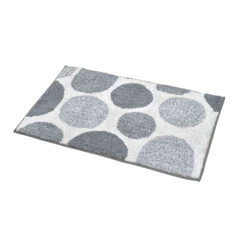 tappeto bagno grigio tappeto da bagno spugna cerchi bianco e grigio tappeto