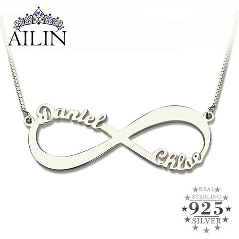 8 Necklaces To Give To Your by Wholesale Personalized Infinity Necklace Two Name Necklace