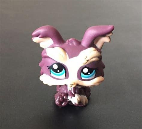 lps yorkie lps littlest pet shop yorkie terrier puppy 1473 purple blue