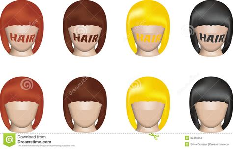 Models With Different Hair Colors Stock Photos Image Many Top Wallpapers With Diffrent Colors And Styles