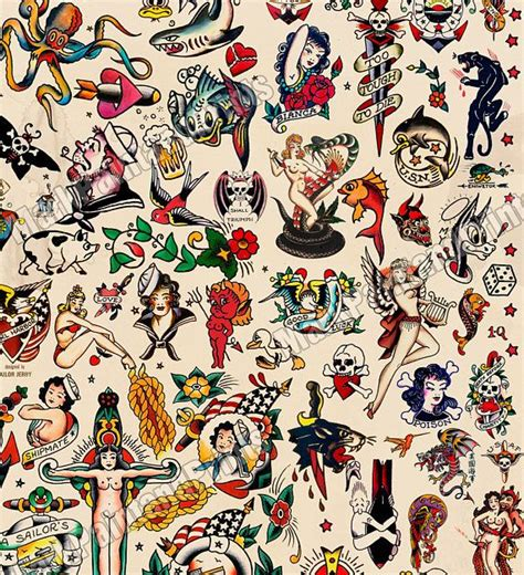 sailor jerry tattoo flash sailor jerry flash printed on hahnemuhle