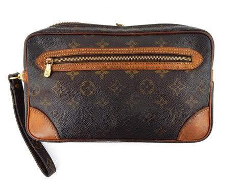 louis vuitton brown marly dragonne toiletry vintage