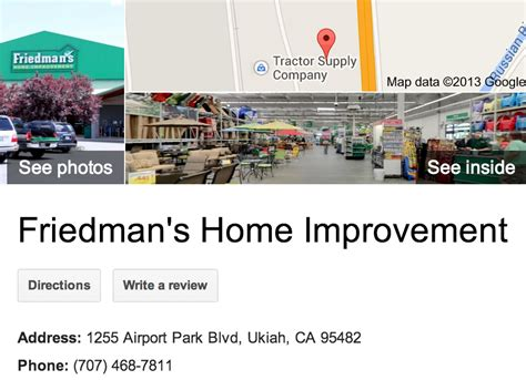 friedman s home improvement 3d tour ukiah