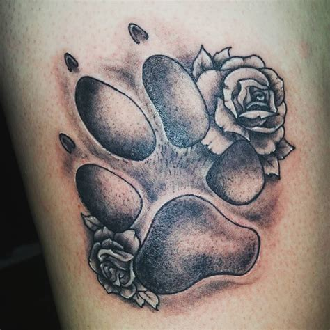 dog paw print tattoos designs 90 best paw print meanings and designs