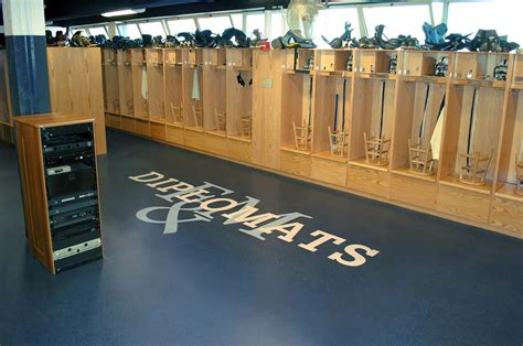 locker room athletics franklin marshall college mayser locker room regupol america