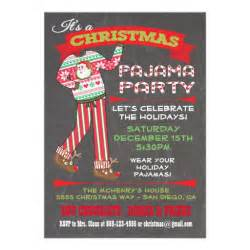 chalkboard christmas pajama party invitations zazzle