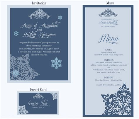 23 wedding menu templates free sample example format
