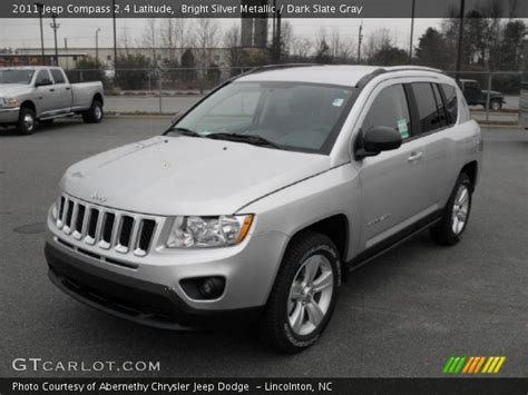 silver jeep compass bright silver metallic 2011 jeep compass 2 4 latitude