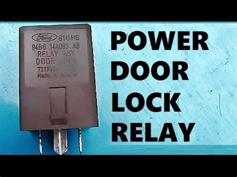 remove install power door lock relay youtube