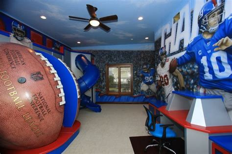 nfl bedroom decor nfl giants themed room traditional kids richmond