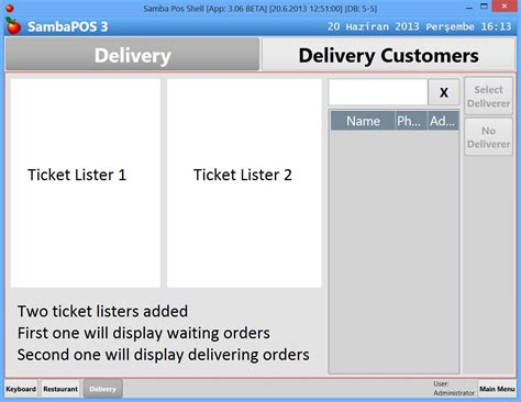 sambapos customer receipt template delivery ticket images search