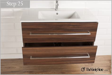 how to install a wall mounted vanity