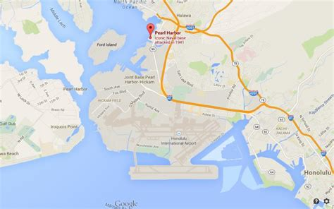 where is pearl harbour on map honolulu world easy guides