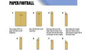 How To Make A Paper Football - school for your bowl