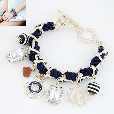 A Gelang Korea Monochrome Anchor Butterfly Pink gelang korea blue boat anchor kb32462