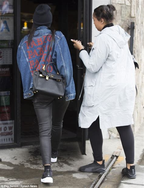 Pablo Denim Jacket jenner steps out in la in casual looking