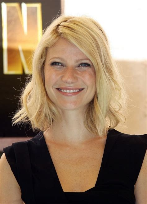 long bob hairstyles gwyneth paltrow long bob hairstyle with casual half done twists gwyneth