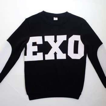 Hoodie Zipper Element Exo Black new kpop unisex white exo sbs t shirt sweater miracles
