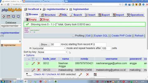 cara membuat json php cara membuat login multiuser sederhana dengan php youtube