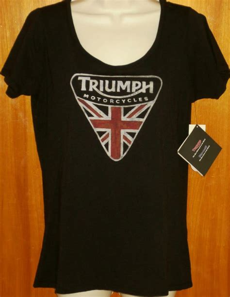 Hoodie Triumph Motorcycles Lp triumph motorcycle by lucky brand s black graphic flag sleeve shirt brand new