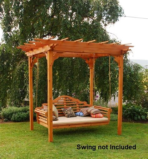 swing with pergola elegant western red cedar pergola with swing hangers the