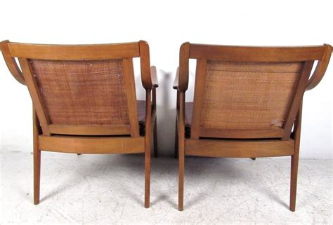 cane armchairs vintage pair vintage modern cane back armchairs for sale at 1stdibs