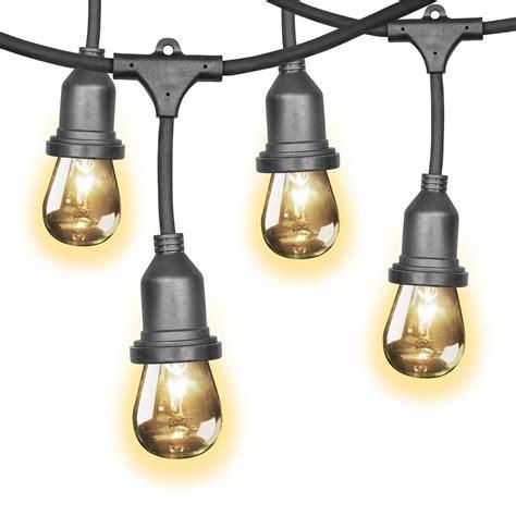light bulb string lights uk feit 48ft 14 6m led indoor outdoor waterproof colour