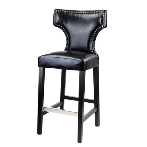 Bar Stools With Studs by 46 Quot Bar Stool In Black With Metal Studs Set Of 2 809 B