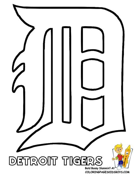 Detroit Tigers Coloring Pages major league baseball mlb coloring pages