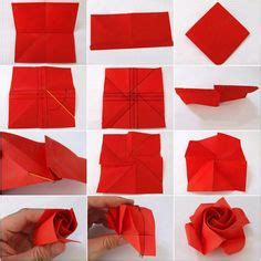 Folded Paper Roses - paper