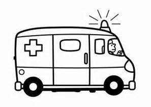 kleurplaat ziekenwagen figuurzagen ambulance coloring pages coloring