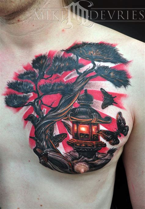 mike devries tattoos misc japanese lantern