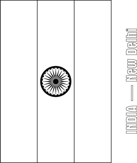 coloring page for indian flag free coloring pages of indian flag
