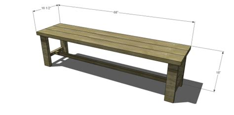 bench dimensions free diy furniture plans to build a francine dining bench