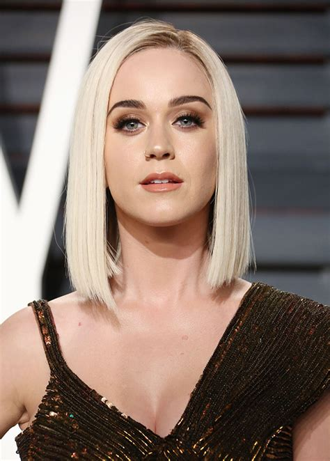 Katy Perry?s Straight Blonde Bob ? Sleek Hair At Vanity