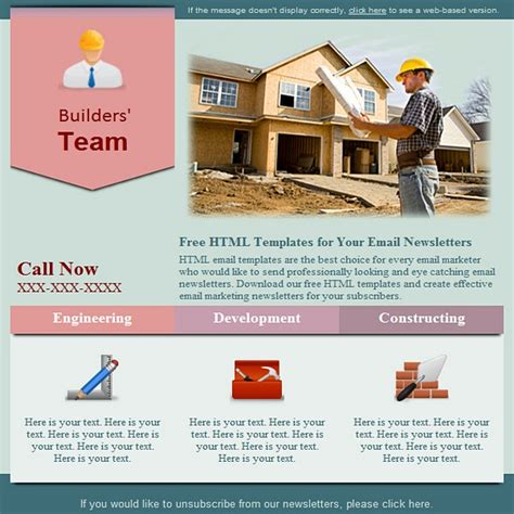 construction free html e mail templates