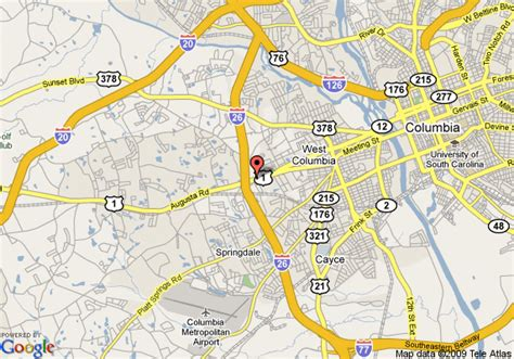 map of columbia south carolina map of quality inn west columbia west columbia