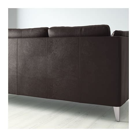 ikea stockholm leather sofa stockholm three seat sofa seglora dark brown ikea