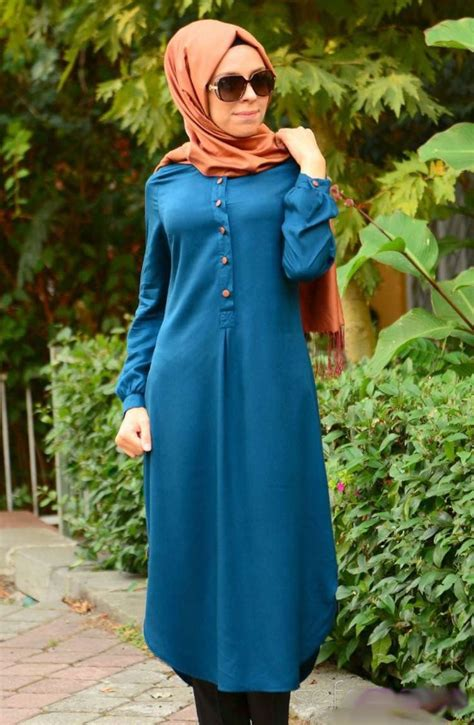 Dress Of The Day Costa Tunic by All Day Fusion Tunic Dress Aqua Hijabistyle2