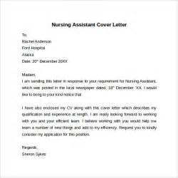 Cover Letter For A Nursing Assistant nursing cover letter template 9 free sles exles formats