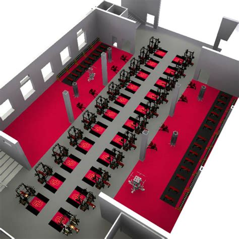 3d layout 3d weight room fitness layout floorplan service