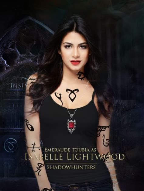 Fanmade poster of Emeraude Toubia as Isabelle Lightwood (official #Shadowhunters cast)   The