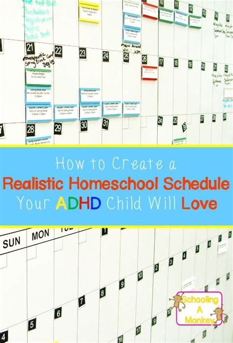 homeschool lesson plan for toddlers creating a realistic homeschool schedule your adhd child