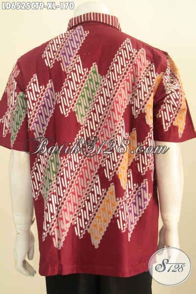 Baju Batik Pria Cap Tulis Size Xl Ct3586ld sedia baju batik lengan pendek size xl kemeja batik pria dewasa warna merah motif bagus cap