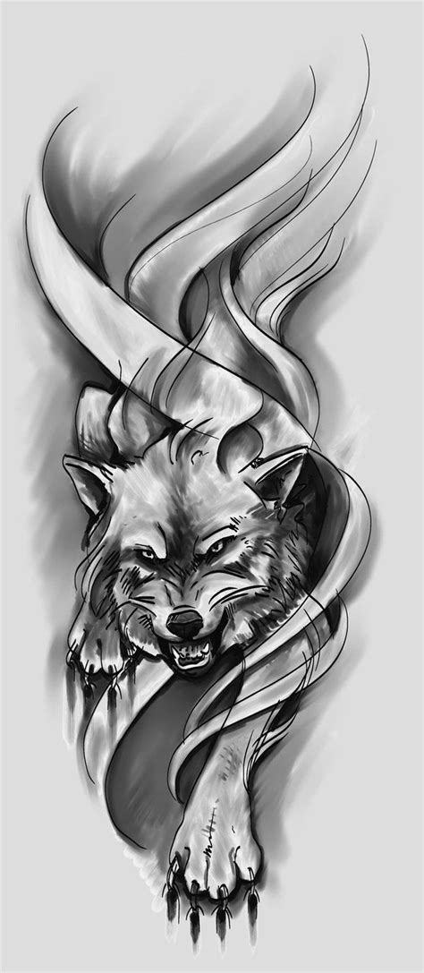 wolf sleeve tattoo designs 25 best ideas about wolf sleeve on