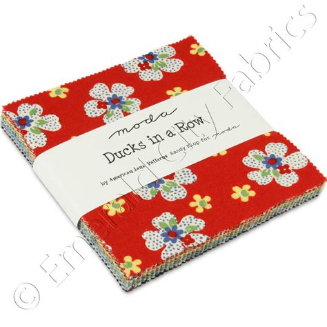 Quilting Fabric Charm Packs by Moda Ducks In A Row Charm Pack Emerald City Fabrics