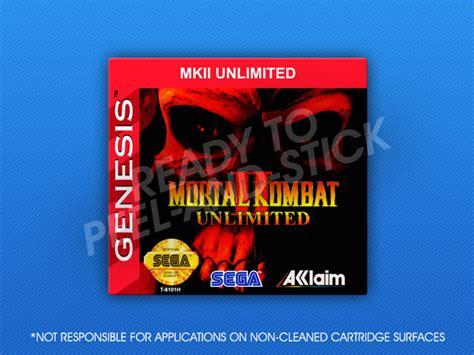 mortal kombat 2 sega genesis sega genesis mortal kombat ii unlimited label retro